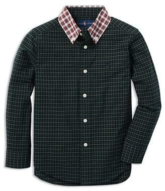 Ralph Lauren Boys' Poplin Contrast Plaid Shirt - Little Kid