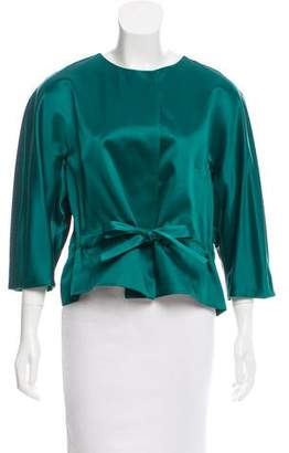 Oscar de la Renta Long Sleeve Satin Jacket w/ Tags