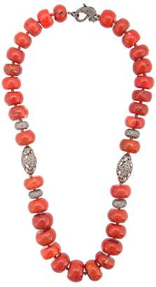 Loree Rodkin coral Maharajah beaded necklace