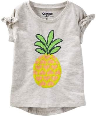 Osh Kosh Oshkosh Bgosh Toddler Girl Sequined Graphic Tee