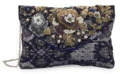Sam Edelman Siena Embellished Tweed Clutch
