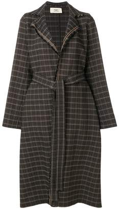 Ports 1961 plaid belted coat
