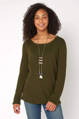 Stitches & Stripes Open Back Pullover