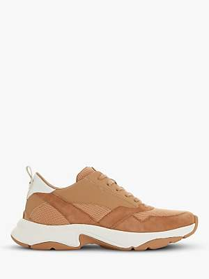 Dune Elexis Lace Up Contrast Panel Trainers