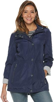 London Fog Tower By Women's TOWER by Hooded Anorak Rain Jacket
