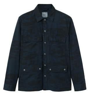 MANGO Camo print field jacket