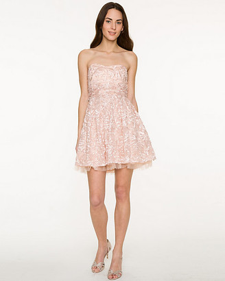 Le Château Embroidered Soutache Sweetheart Party Dress