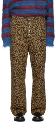 Marni Reversible Brown and Tan Mix Trousers