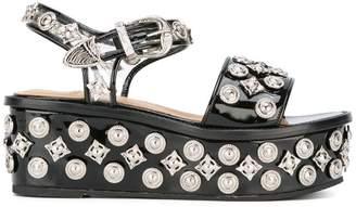 Toga Pulla studded platform sandals