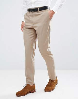French Connection Skinny Wedding Suit PANTS in Camel