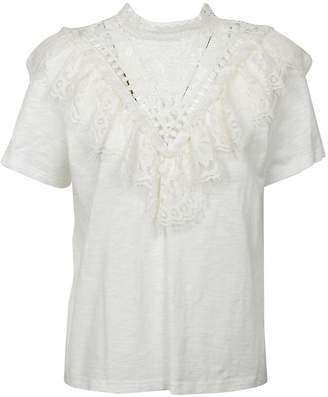 Sea New York Victorian Lace Neck T-shirt