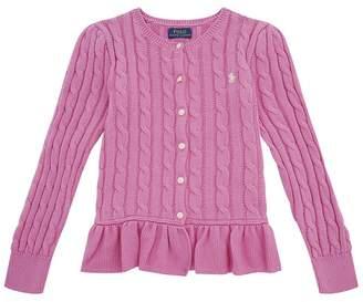 Polo Ralph Lauren Knitted Peplum Cardigan