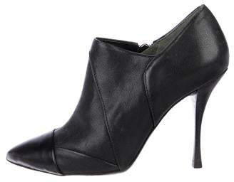Tory Burch Pointed-Toe Leather Booties