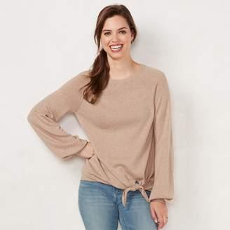 Lauren Conrad Women's Tie-Front Sweater