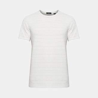 Theory Cotton Striped Essential Tee
