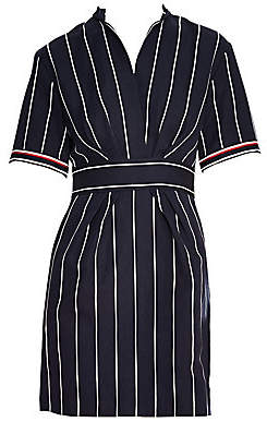 Sandro Women's Francine Stripe A-Line Shirtdress
