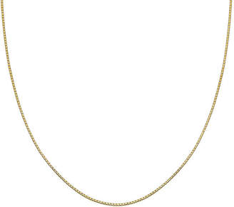 STERLING SILVER CHAINS Silver Reflections Gold Over Sterling Silver Box Chain Necklace