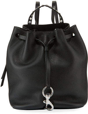 Rebecca Minkoff Blythe Leather Drawstring Backpack Bag