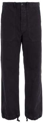 Rrl - Drawstring Cuff Cotton Trousers - Mens - Navy