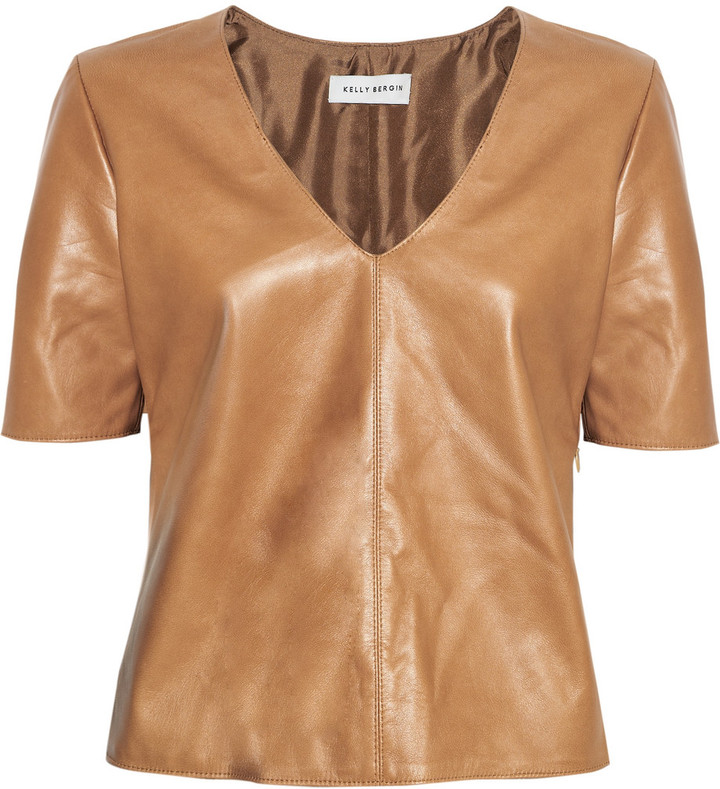 Kelly Bergin Leather top