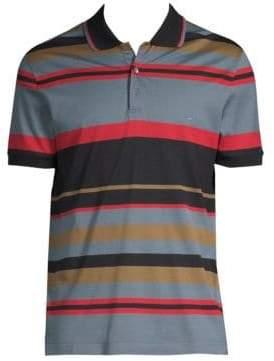 Salvatore Ferragamo Striped Pique Polo