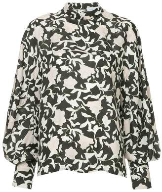 Christian Wijnants printed bell sleeve blouse