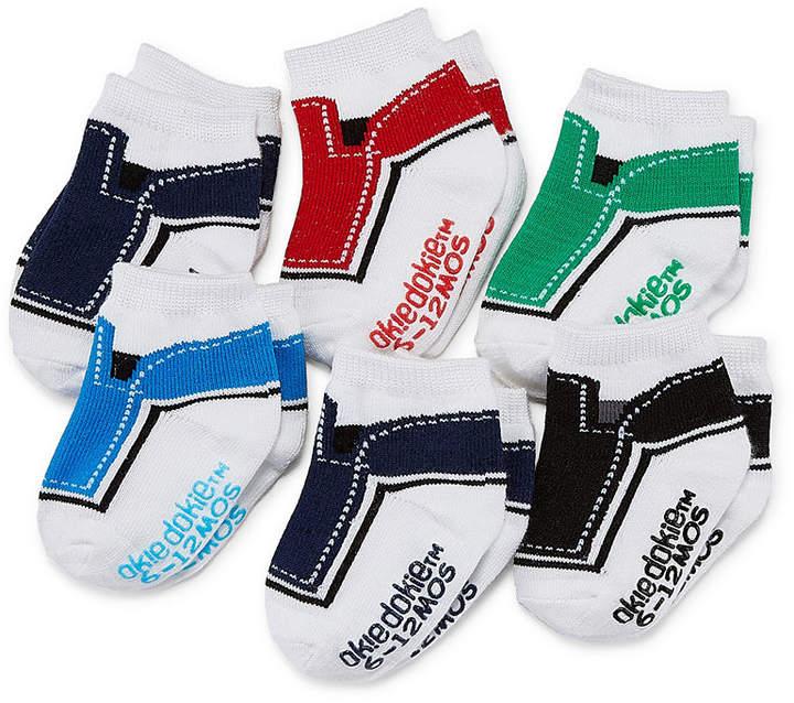 Okie Dokie Color Block 6 Pack Crew Socks – Baby