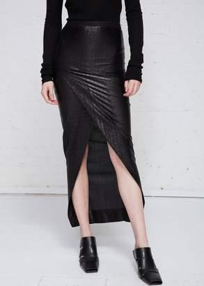 Rick Owens Lilies Pelle Draped Hem Skirt
