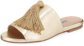 Charles David Sashay Metallic Tassel Slide Sandal