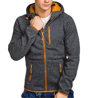 Mens Hoodies Pervobs Men's Autumn Winter Long Sleeve Hoodies Pleats Pockets Sweatshirt Tracksuits(M, )
