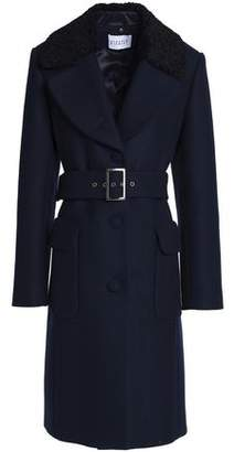 Claudie Pierlot Faux Shearling-Trimmed Wool-Blend Felt Coat