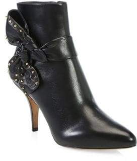 Valentino Studded Side Bow Ankle Boots