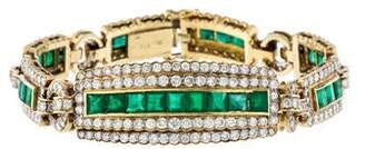 18K Emerald & Diamond Tennis Bracelet