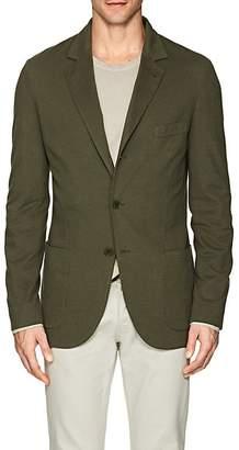 Loro Piana Men's Cotton-Blend Piqué Three-Button Sportcoat