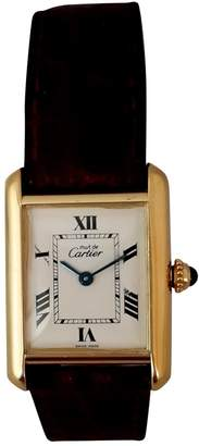 Cartier Vintage Tank Must White Gold plated Watches