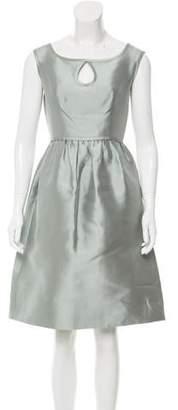 Barbara Tfank Satin Keyhole-Accented Dress