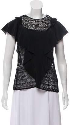 Marissa Webb Silk Lace Top
