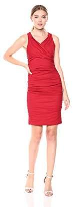 Nicole Miller Women's Cotton Metal Jo x Back Dress