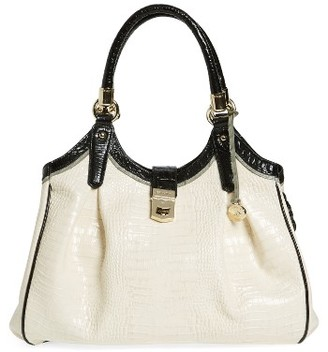 Brahmin 'Tri-Texture - Elisa' Leather Shoulder Bag - Ivory $415 thestylecure.com