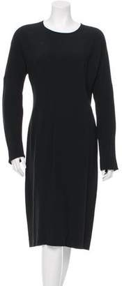 Prada Long Sleeve Pleated Dress w/ Tags