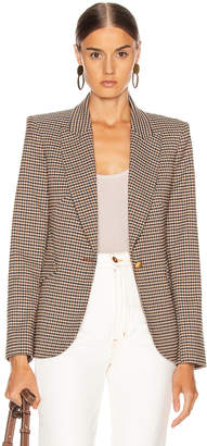 L'Agence Chamberlain Blazer in Comey Houndstooth | FWRD
