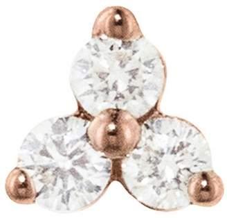 Maria Tash Large Three Diamond Trinity Thread Through Earring - Rose Gold