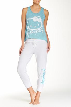 Hello Kitty Electric Glow Pajama 2-Piece Set $45 thestylecure.com
