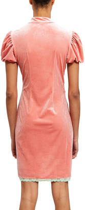 Nodress Pink Velour Dress