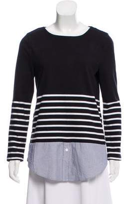 Band Of Outsiders Striped Knit Top