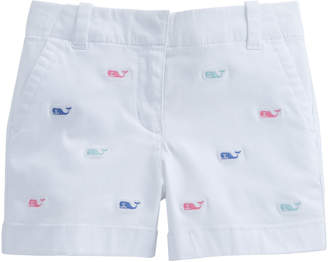 Vineyard Vines Girls Whale Embroidered Every Day Shorts