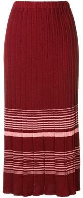 Chiara Bertani pleated knitted skirt