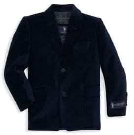 U.S. Polo Assn. Little Boy's & Boy's Velvet Sportcoat