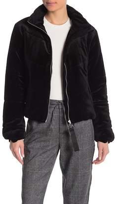 Romeo & Juliet Couture Velvet Puffy Jacket