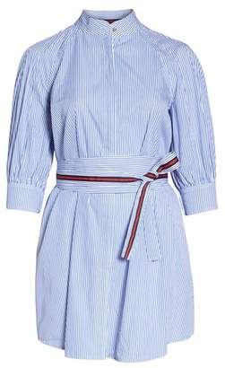 1901 Stripe Tie Waist Shirtdress